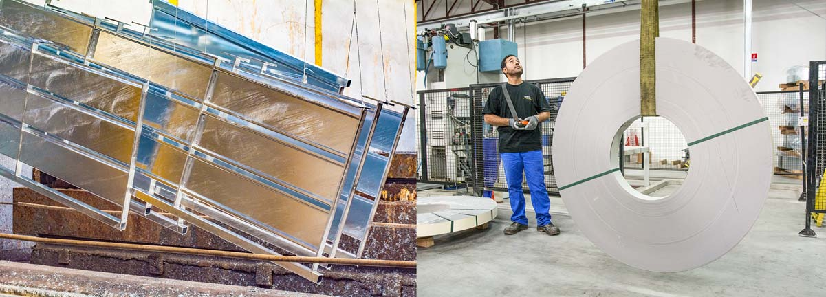 Notre bureau d'étude conçoit des produits toujours plus innovants. La modernité et la polyvalence de nos ateliers nous permettent de réaliser des opérations de découpage, d'emboutissage, de profilage, de soudure, de galvanisation, de sablage et dethermolaquage.