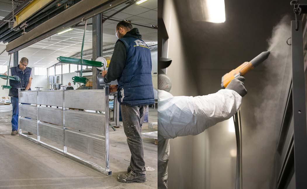 La qualité du thermolaquage dépend de la préparation de la surface avant poudrage et des caractéristiques de lapoudre.